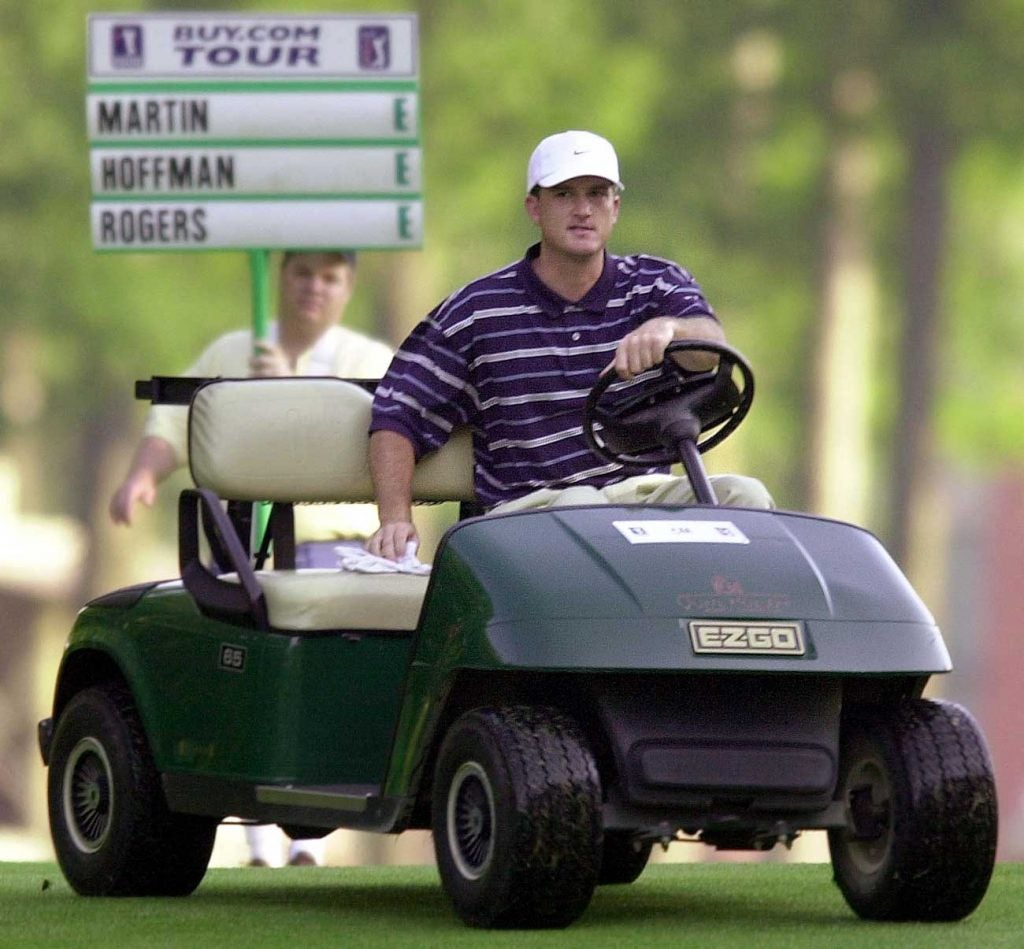 Casey Martin famously played with a cart due to a circulatory disease he was born with.
