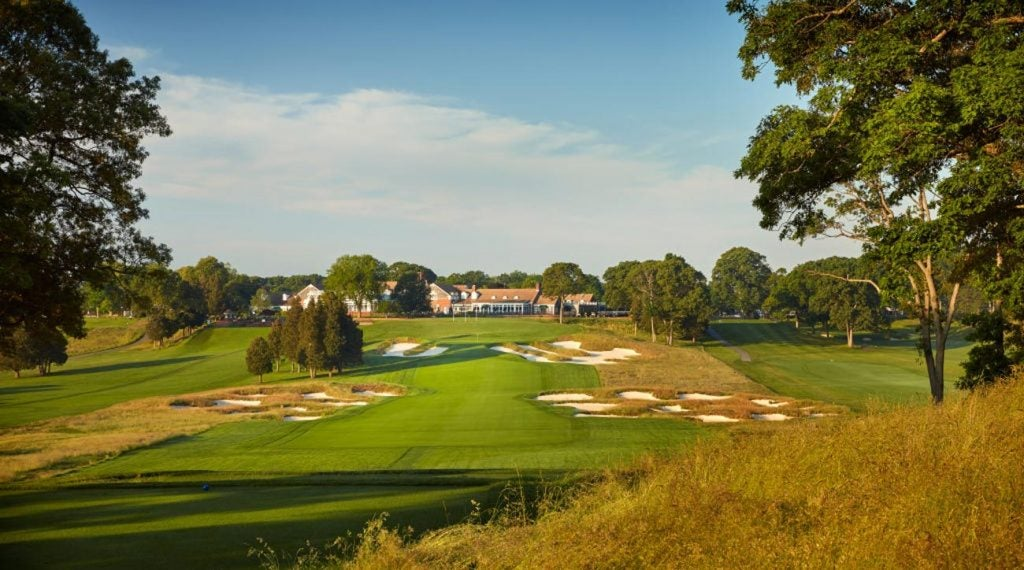 A view of the 18th fairway at Bethpage Black