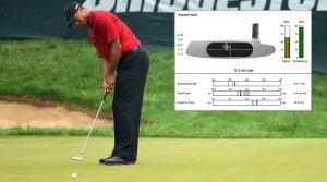 Tiger Woods putting stroke
