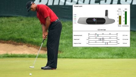Tiger Woods putting stroke