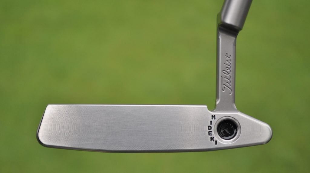 A face-on view of Matsuyama's putter.