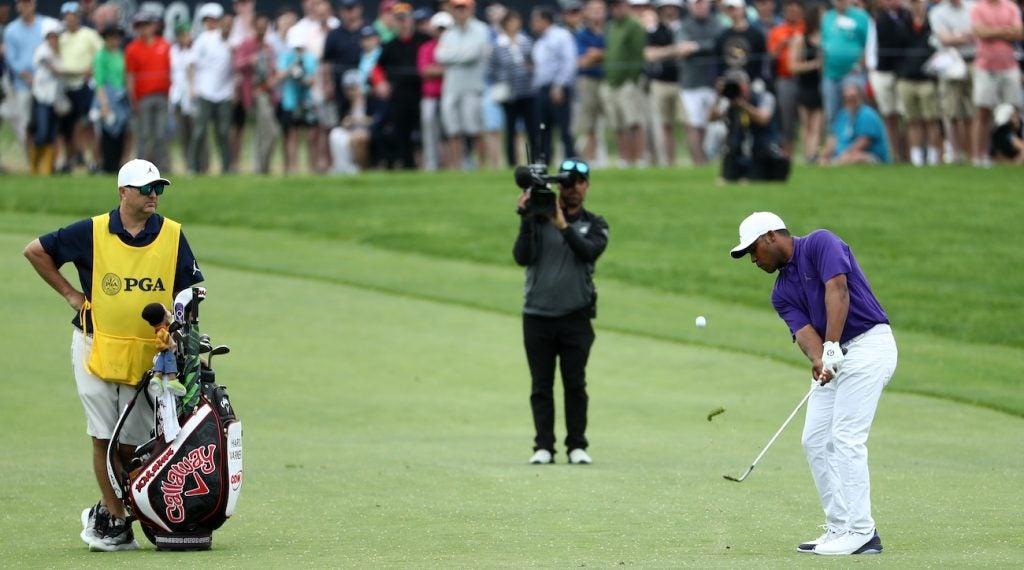 Harold Varner III was already using a Callaway staff bag at the PGA Championship.