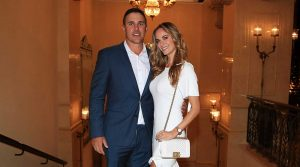 Jena Sims and Brooks Koepka at the Ryder Cup.