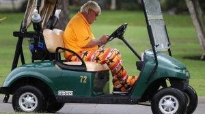John Daly Tiger Woods cart