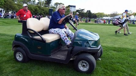 John Daly PGA Championship golf cart