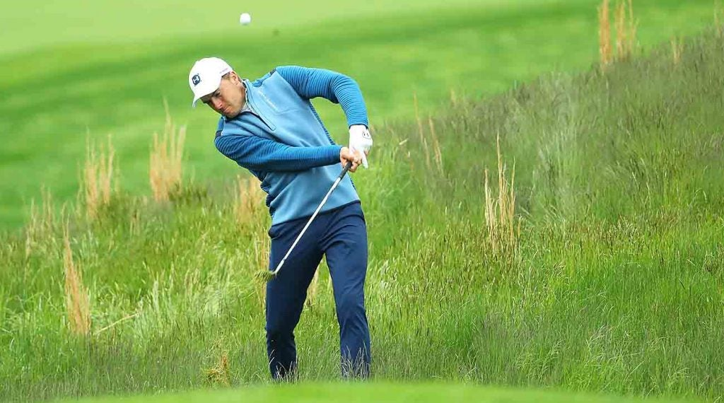 Spieth squeezed in some practice time this week at Bethpage Black.