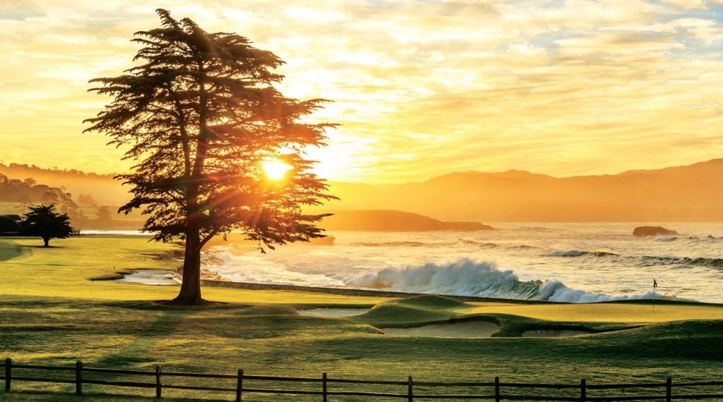 The 18th hole at Pebble Beach