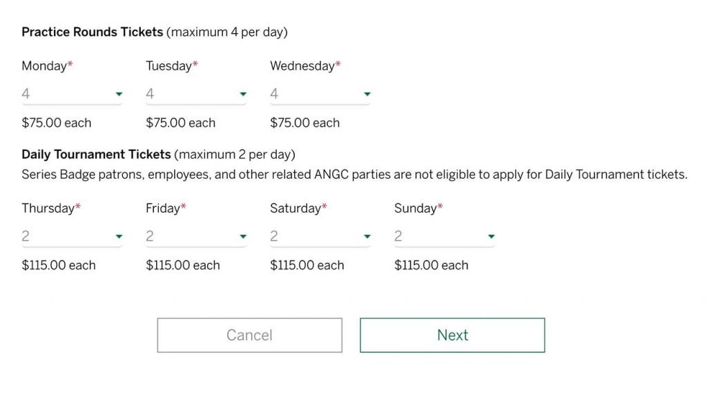 Masters Tickets The Lottery Is Open Here S How To Apply For Masters Tickets