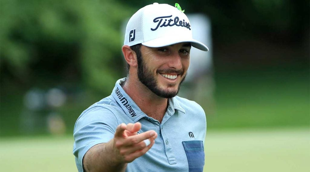 Max Homa was all smiles at the Wells Fargo Championship on Sunday.