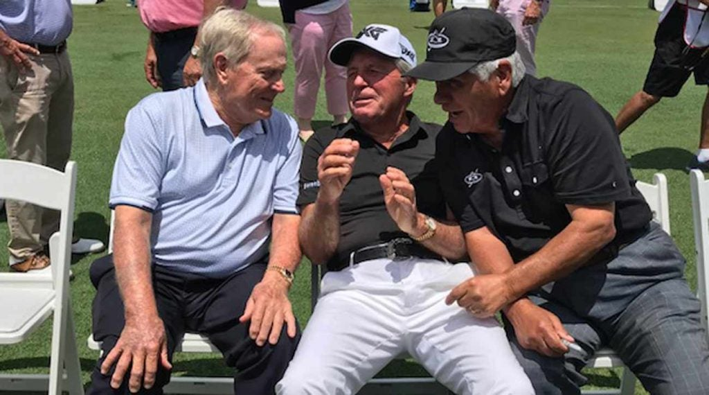 Jack Nicklaus, Gary Player and Lee Trevino were eager to talk Tiger's Masters win.