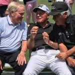 Jack Nicklaus, Gary Player and Lee Trevino Tiger's Masters