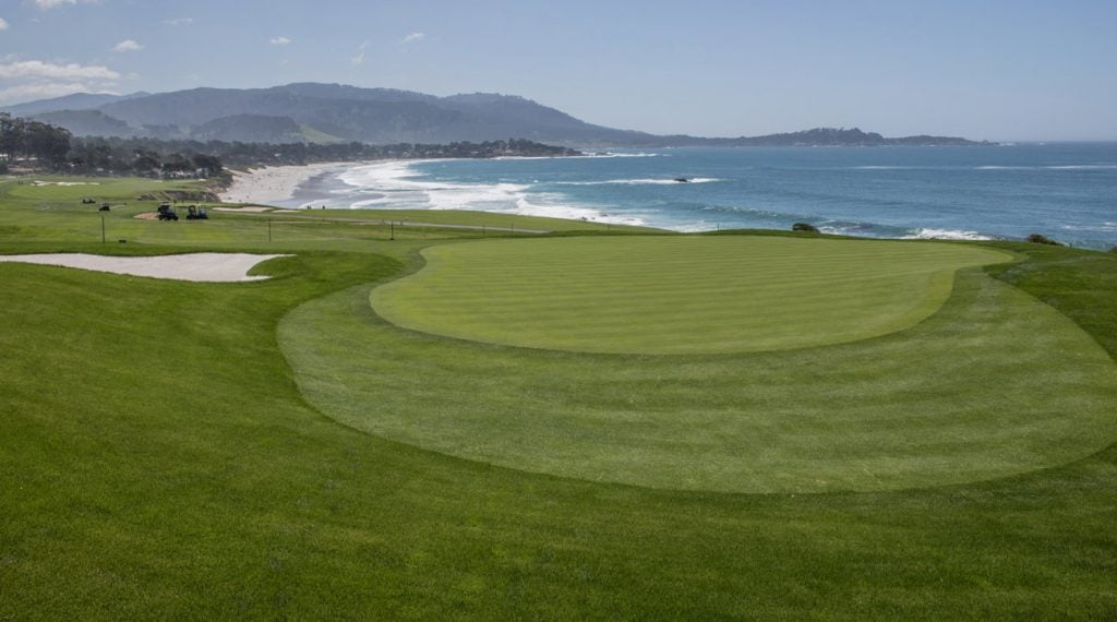 The 13th hole at Pebble Beach.