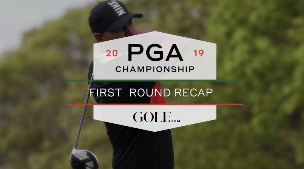 pga championship  first round recap