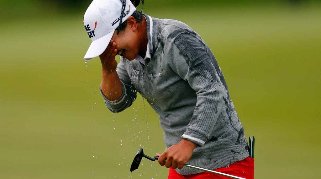 Sei Young Kim held off two fast-charging competitors to win the Mediheal Championship in a playoff.