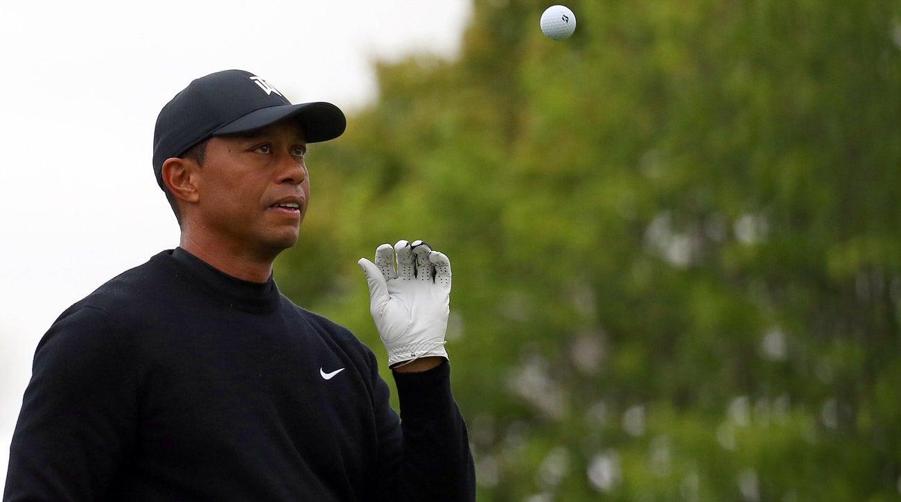 Tiger Woods practices 2019 PGA Championship