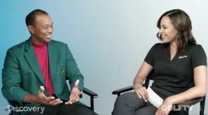 Tiger Woods and Henni Zuël on GolfTV.
