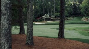 The 13th green at Augusta National Golf Club.
