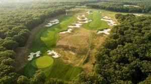 A scenic view of 2019 PGA Championship venue Bethpage Black.