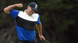 Brooks Koepka celebrates after winning the 2019 PGA Championship on Sunday at Bethpage Black on Long Island.