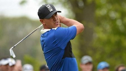 Brooks Koepka takes a swing during the final round of the PGA Championship.