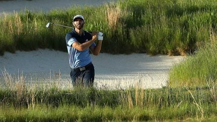 Dustin Johnson is among those tied for second at five under.