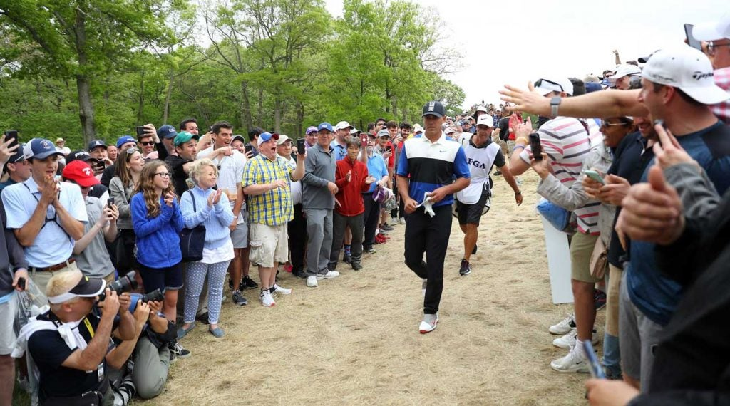 New York fans were raucous but inspiring for Brooks Koepka Sunday at Bethpage Black.