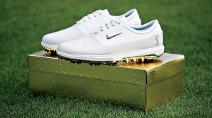 At TPC Sawgrass in March, Rory McIlroy lent his Midas touch to this special Players Championship–themed pair of Nikes.