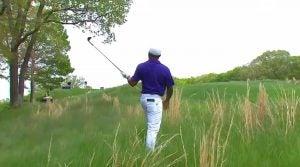 Harold Varner shanks into woods at PGA Championship
