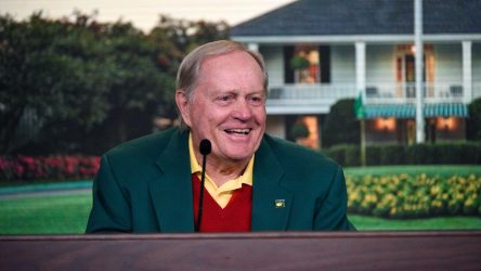 Jack Nicklaus speaks to the media at Augusta National