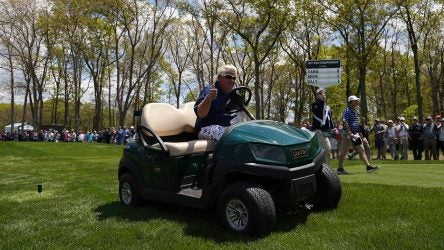 John Daly used a cart at the PGA Championship and has requested one for the British Open.