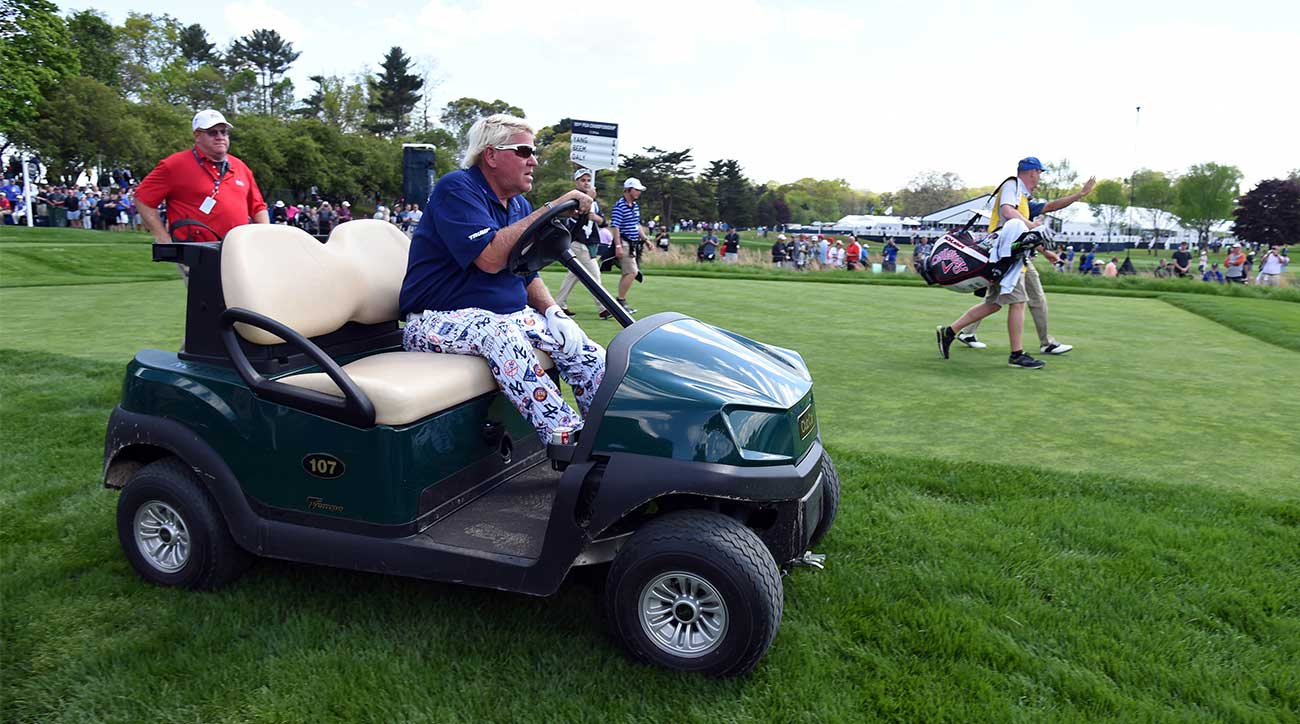 john daly has already requested to use a golf cart at the