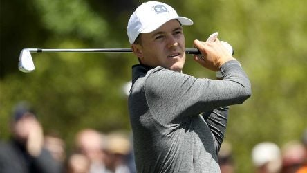 Jordan Spieth hits a shot during the 2019 RBC Heritage.