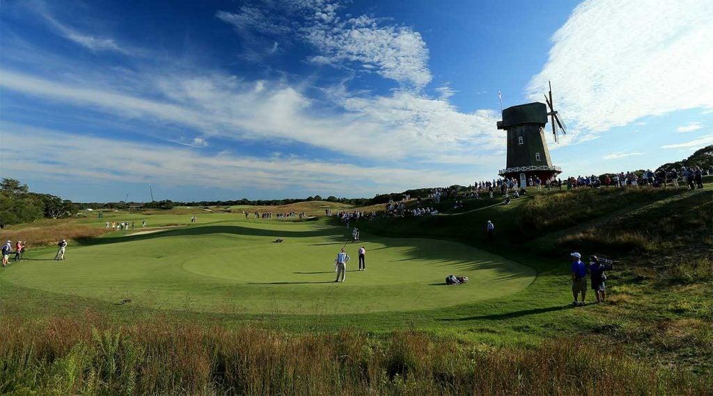 National Golf Links in Southampton, New York, during the 2013 Walker Cup.