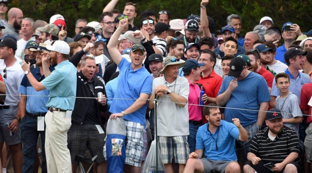 New York golf fans at 2019 PGA Championshp at Bethpage