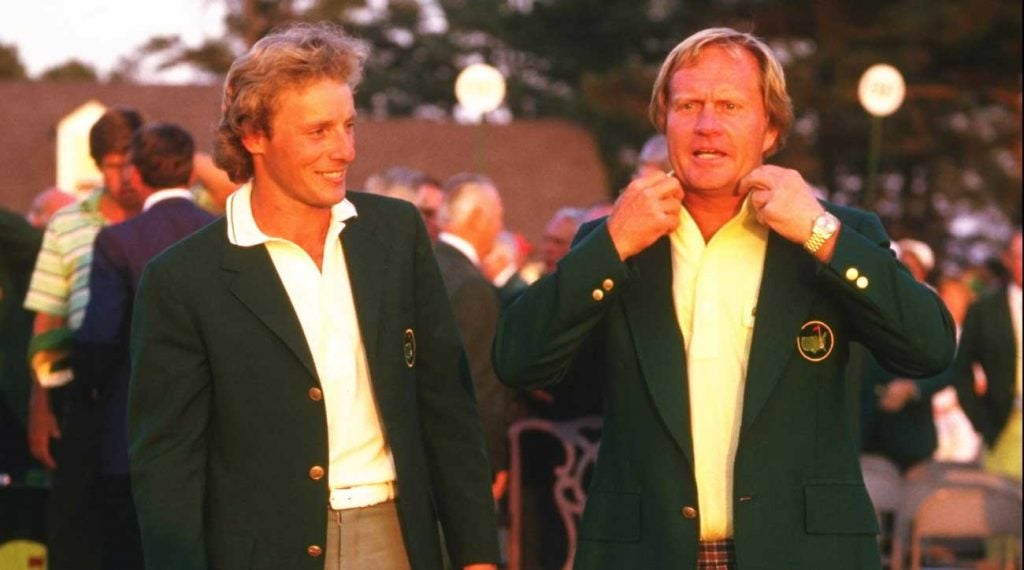 Jack Nicklaus donned his Rolex after winning the 1986 Masters.