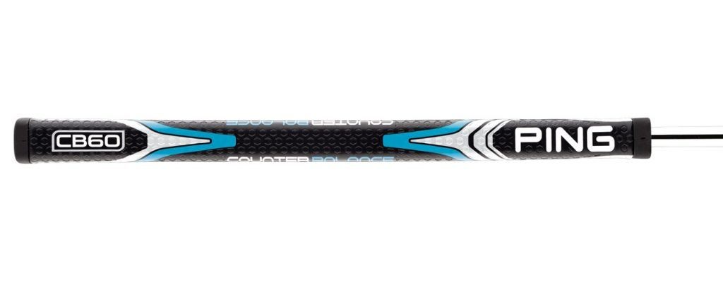 The standard grip on the Valor 400 putter is a specially designed Ping CB60.