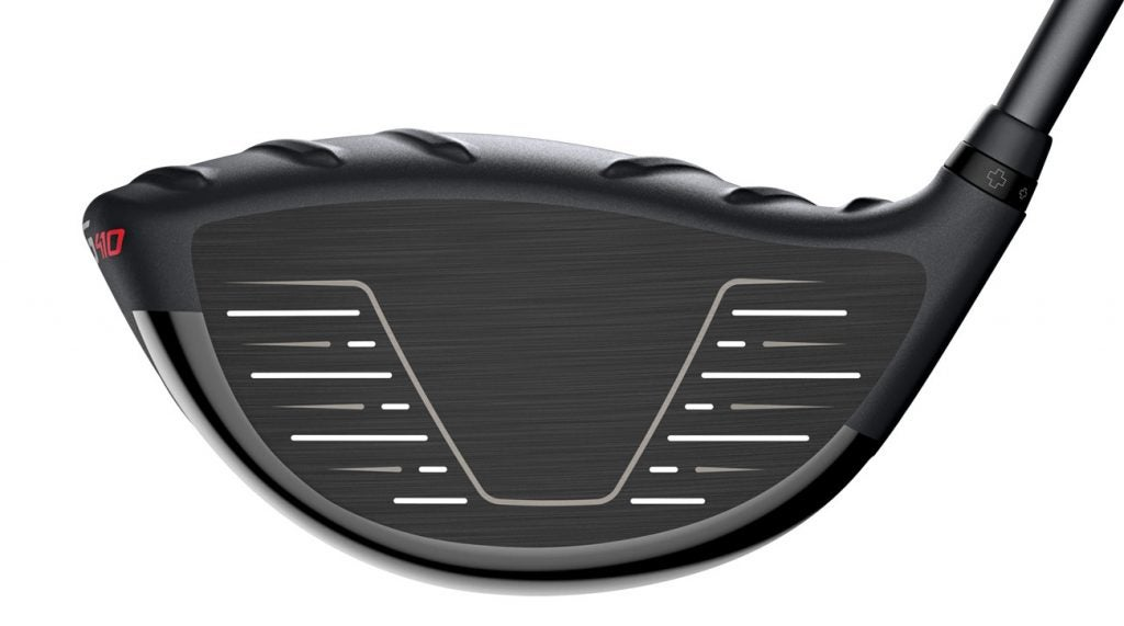 A view of the face on the Ping G410 LST driver.