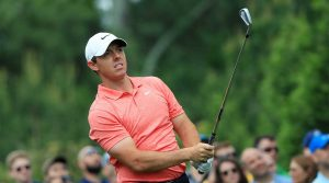 Rory McIlroy hits a shot during the final round of the Wells Fargo Championship.