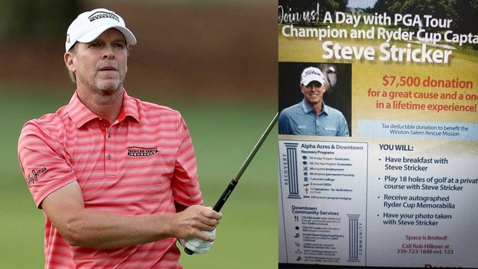 Steve Stricker's Thursday morning was interrupted by tweets from North Carolina golfers expecting his presence.