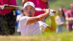Sung Kang takes a swing during the final round of the AT&T Byron Nelson on Sunday.