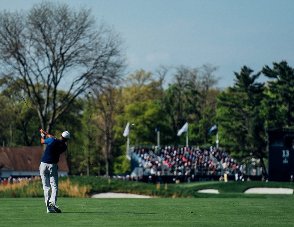 Tiger gave the NY crowds a lot to cheer for on Thursday.