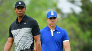 Tiger Woods couldn't stick with Brooks Koepka this week at the PGA.