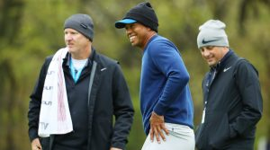 Tiger Woods practices for PGA at Bethpage Monday