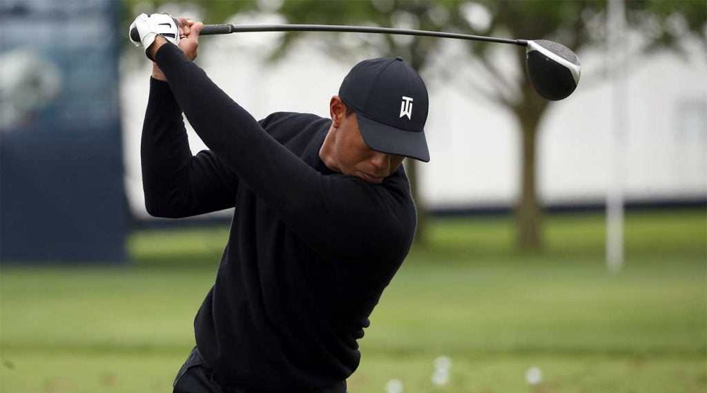 Tiger Woods is scheduled to tee off at 8:24 a.m. on Thursday.