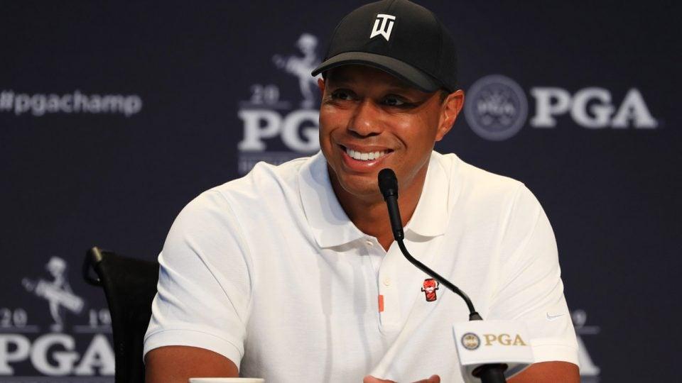 Tiger Woods roasts John Daly at PGA Championship.