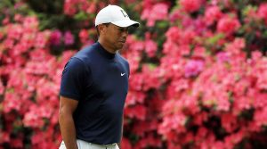 Tiger Woods walks during his practice round at Bethpage Black.