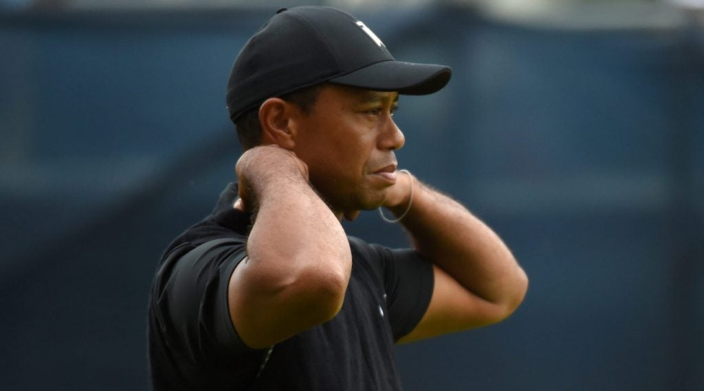 Tiger Woods on Friday during the second round of the 2019 PGA Championship.