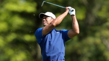 Tiger Woods in 2019 PGA Championship first round