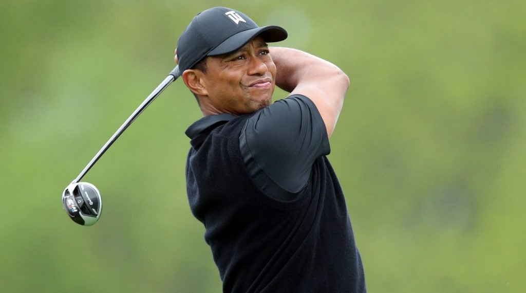 Tiger Woods pictured during the second round of the 2019 PGA Championship.