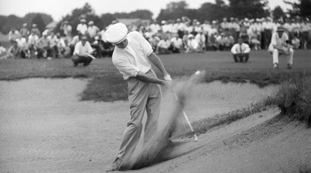 Dick Mayer at the 1957 U.S. Open at Inverness Club in Ohio.